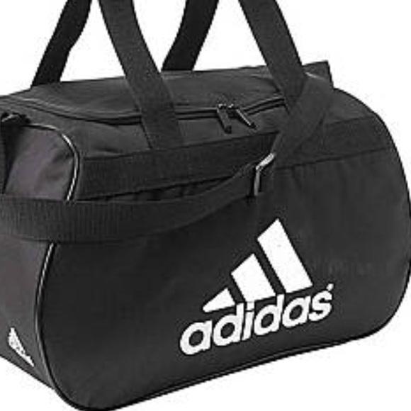 7932a0716ea adidas Bags   Black And White Logo Zip To Gym Bag   Poshmark